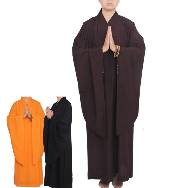 USHINE Unisex Zen Budista túnica monje laico meditación traje de monje de entrenamiento uniforme traje Lay budista ropa set