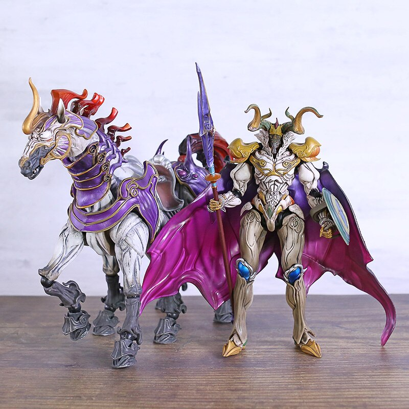 Play Arts Kai FF13 Final Fantasy XIII Odin с Sleipnir фигурка ПВХ модель игрушки Фигурки