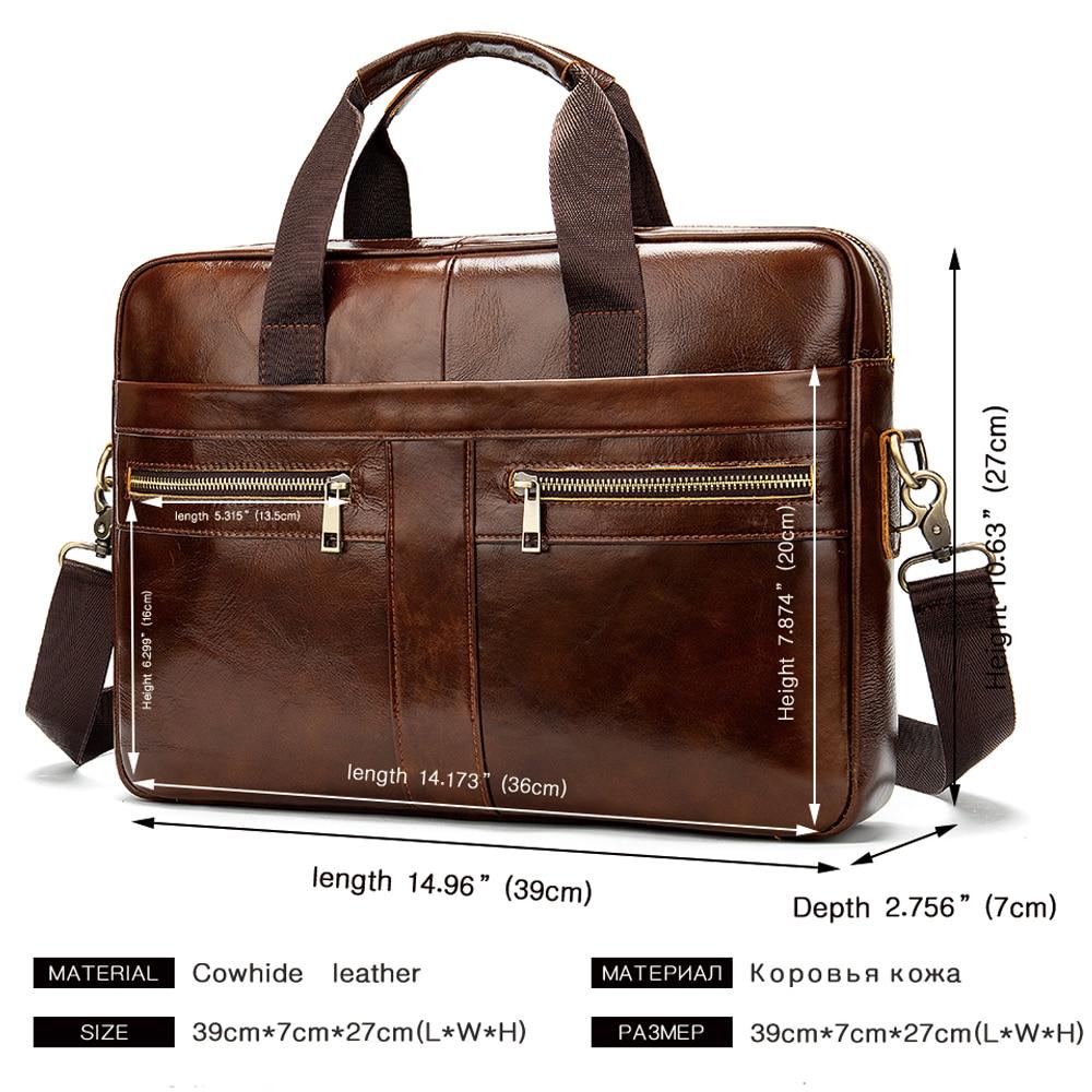Чанта мъжко куфарче от естествена - Чанти за документи - Снимка 3