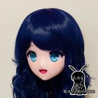 rb1273customize handmade full head femalegirl resin japanese cartoon character animego cosplay kigurumi mask crossdresser