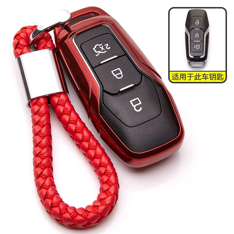 New TPU Key Case For Ford Mondeo MK3 MK4 MK5 3 4 5 Mustang Edge Kuga Fiesta Ranger Fusion Focus MK6 MK7 Keyring Key Cover Holder