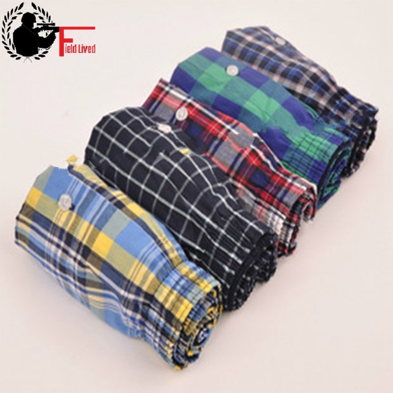 UNDERWEAR MEN 5pcs Lot Loose Shorts Men's Panties Cotton boxer male plus Large big size Comfortable