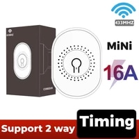16A 433MHZ Mini Smart Wifi DIY Switch Supports 2 Way Control  Smart Home On-off Device Automation Module  With Timing Function