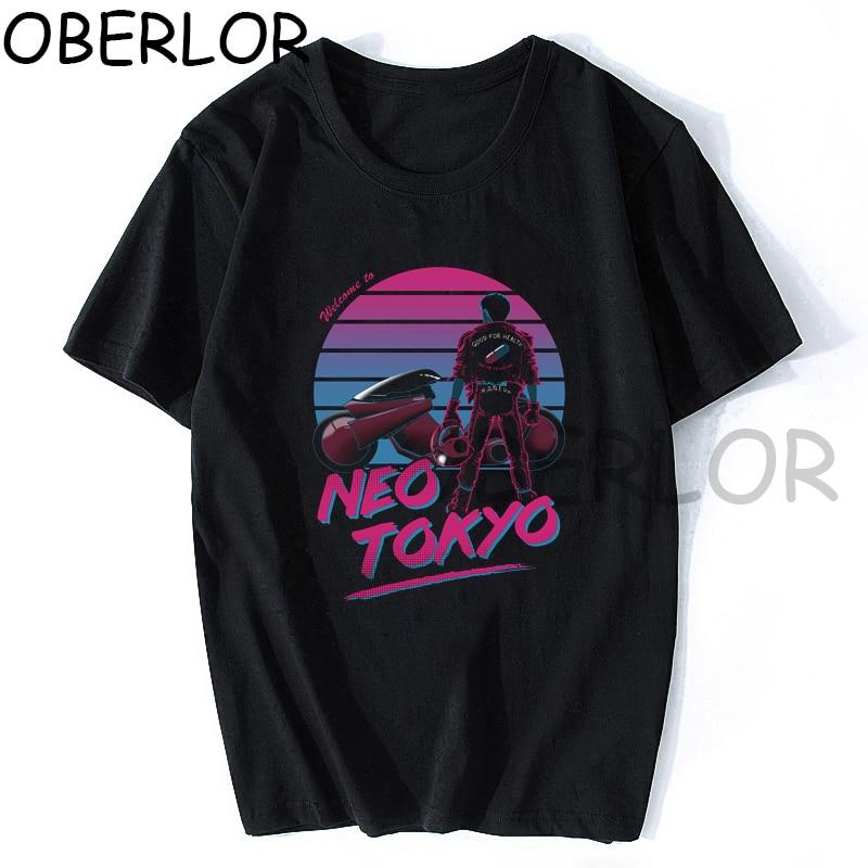 Camiseta Vintage de Akira Kaneda Shotaro para Hombre, ropa de calle Harajuku...