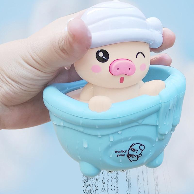 Детские Игрушки для ванны, милая мультяшная свинья, детская игрушка для ванны, набор для водных игр, детские игрушки для купания с поливальн...