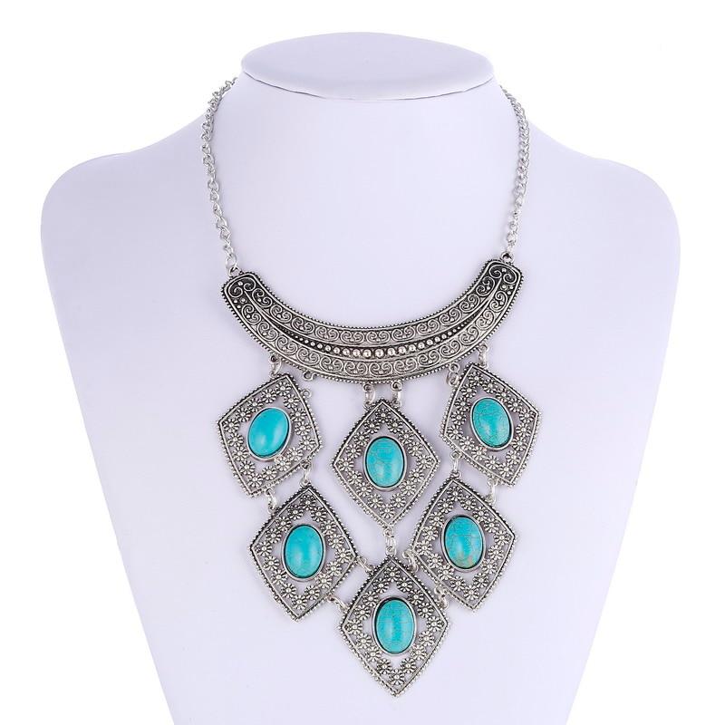 LOVBEAFAS moda Boho Collares Choker komunikat naszyjnik Vintage maxi collier biżuteria turcja kobiety naszyjnik