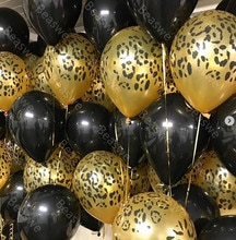 20pcs Black Animals Latex Leopard Balloons Birthday Jungle Party Safari Jungle Theme Party Birthday Party Decorations Kid Toys