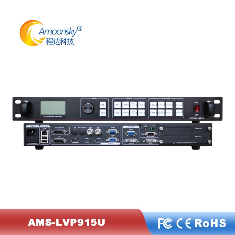 El proveedor de pared led utiliza ams-lvp915u procesador de pantalla de vídeo con puertos DP USB para pixel led Tablero de muestra módulo led p10