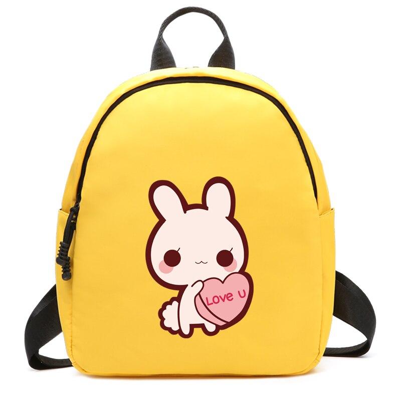 2019 lindo amor conejo estilo de viaje mujeres mochila niñas adolescentes Mini mochila escolar alta calidad impermeable Oxford mochilas