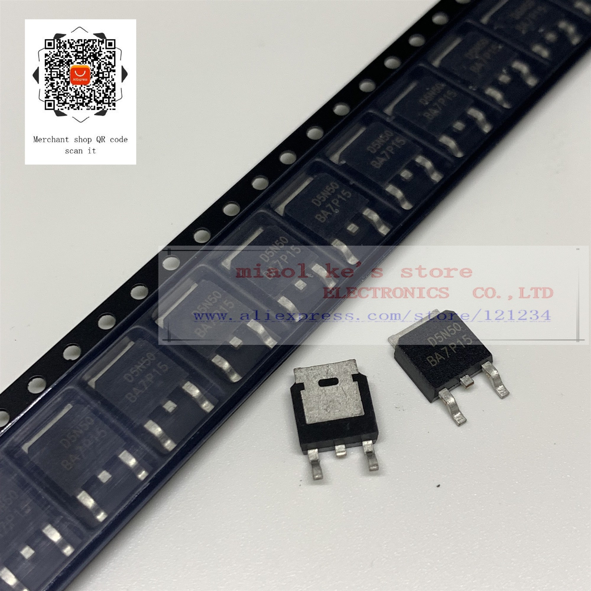 [50 шт./лот] 100% Новый оригинал AOD5N50 D5N50 CMD5N50 AOD5N50M-MOSFET N-channel 500V 5A TO252