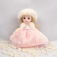 16cm bjd doll long sleeve dress set gift box 13 joint movable 3d eyes 112 mini cute fashion dress up girl toy diy birthday gift