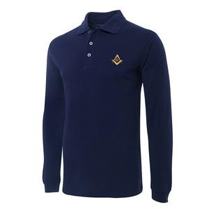 Masonic Lodge Embroidery Long Sleeve Polo Shirts Embroidered Men's Shirts