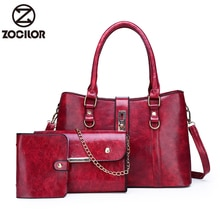 Retro three sets big Woman Shoulder Bags Famous Brand Luxury Handbags Women Bags Designer High Quality leather Totes Women bag