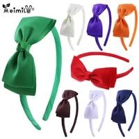 meimile ribbon hair band for girls solid color bow headwear grosgrain bows headbands birthday bow headbandgifts