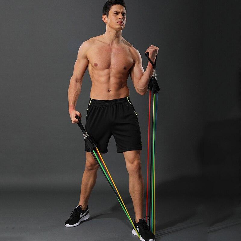 Vip link 11 pçs/set faixas de resistência yoga fitness tubos de borracha banda estiramento em casa ginásio treino exercício elástico puxar cordas