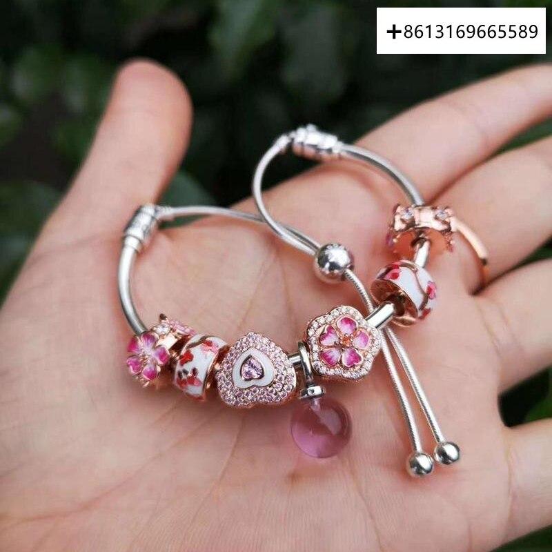 Si ME-pulseras de cristal para mujer, brazaletes de cadena de s, Vintage,...