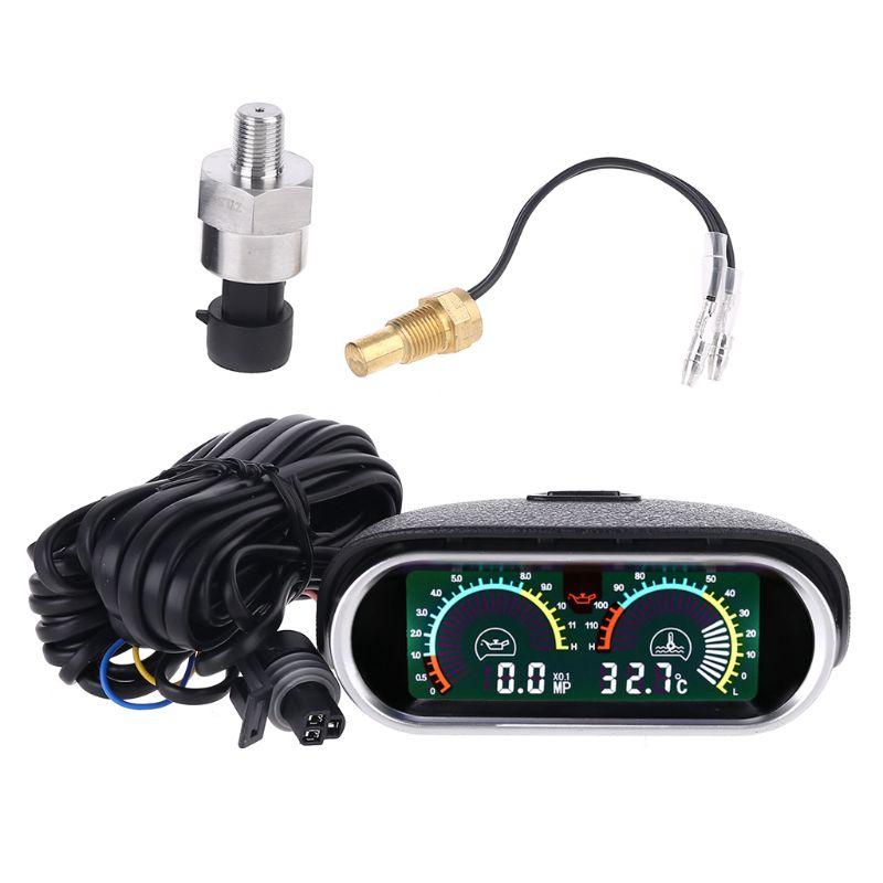 12 فولت/24 فولت العالمي سيارة قياس ضغط الزيت + درجة الحرارة 10 مللي متر 1/8 NPT الاستشعار W0YD