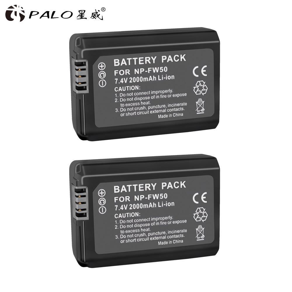 PALO NPFW50 NP FW50 NP-FW50 Batterie für Sony Alpha a6500 a6300 a6000 a5000 a3000 SLT-A35,SLT-A37,SLT-A37K,SLT-A37M,SLT-A55