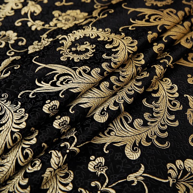 Brocade fabric imitation silk fabrics flower for sewing satin material dress