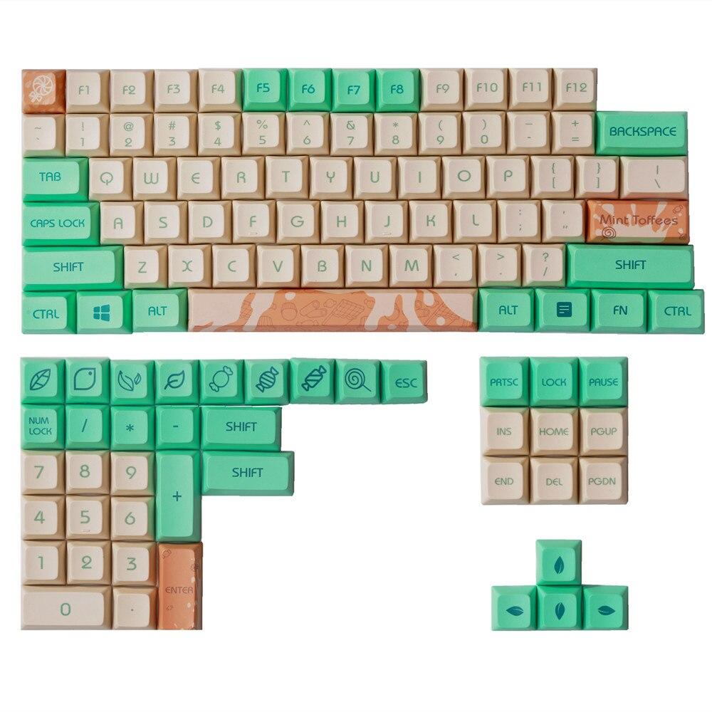 1 مجموعة حلوى النعناع XDA مفتاح غطاء ل MX التبديل لوحة المفاتيح الميكانيكية PBT صبغ سوبيد كيكابس ل GH60/GK61/GK64/84/87/96/104/108/980