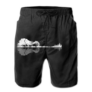 R92 running Nature Guitar Shorts Breathable Quick Dry Humor Graphic Hawaii Pants