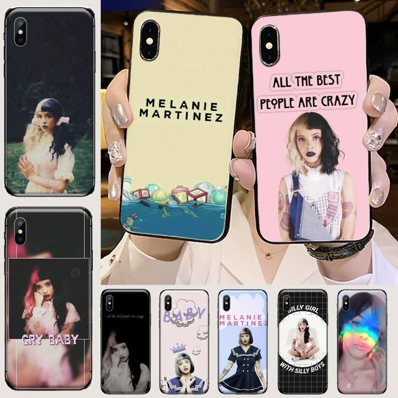Melanie martinez cry bebê novidade bling bonito caso de telefone para iphone 5 5S 5c se 6s 7 8 plus x xs xr 11 pro max