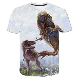 Summer Brand New Children T-shirt animal dinosaur 3D Boys/girl T-shirt Kids Short Sleeve T-shirts Casual Baby Tops Clothing