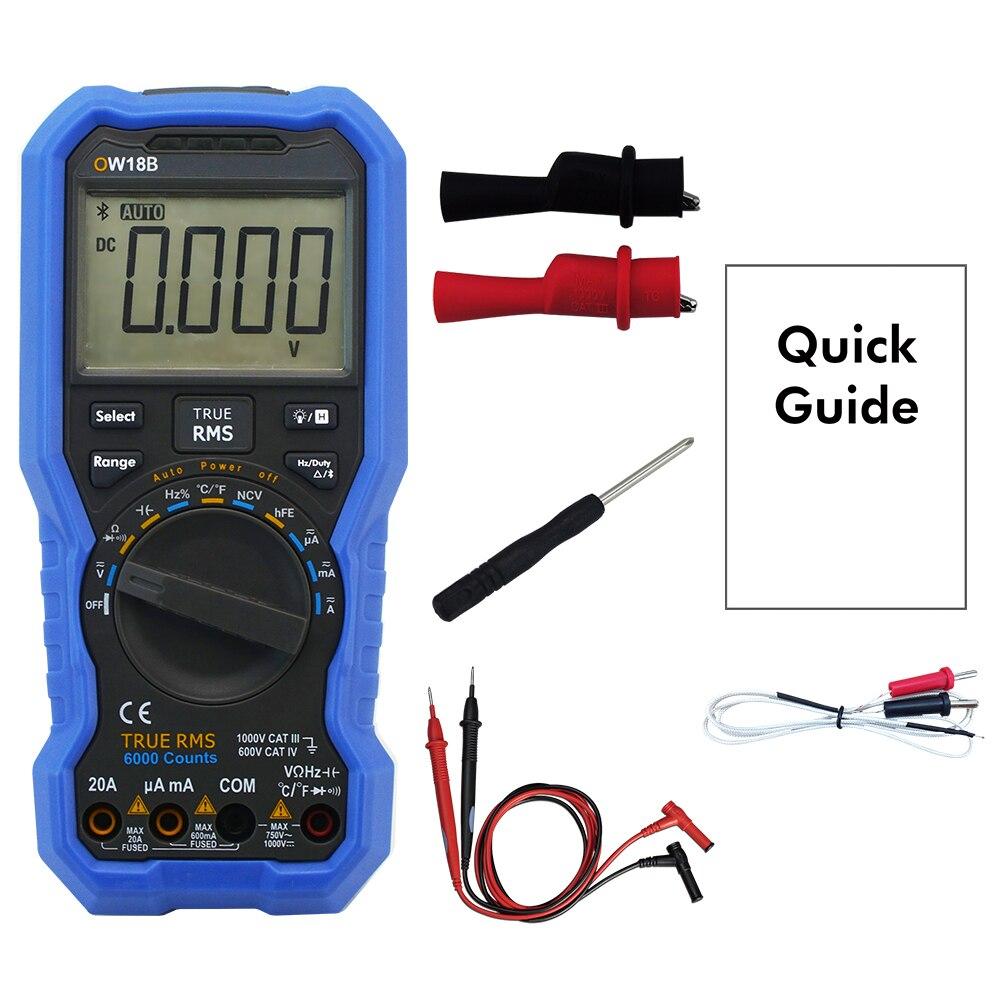 Teste portátil do registador de dados do multímetro digital do teste da temperatura da casa de bluetooth 4.0 com k-tipo termopar