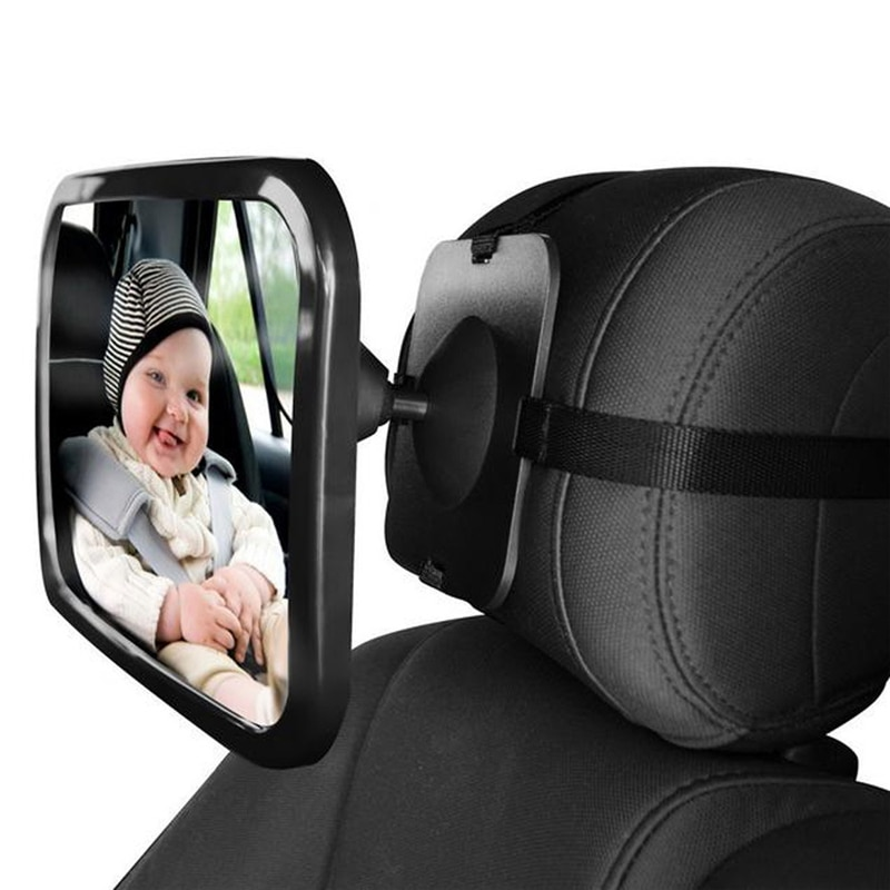 Регулируемое широкое Автомобильное зеркало заднего вида, Детское/Детское сиденье, автомобильное зеркало безопасности, монитор, подголовни...
