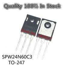 Send free 20PCS SPW24N60C3  24N60C3  N channel TO-247  600V  24A   The field effect tube