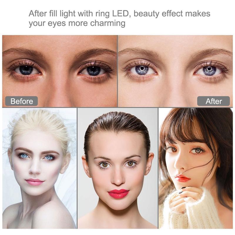 PULUZ LED Selfie Ring Light Dimmable LED Ring Lamp 4 7 inch 12cm USB LED Ring Vlog Photography Video Lights Selfie Fill Light