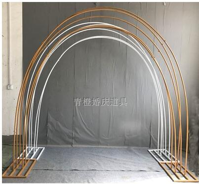 Wedding props tie yi arch colorful road frame wedding background arch frame wave rainbow road lead