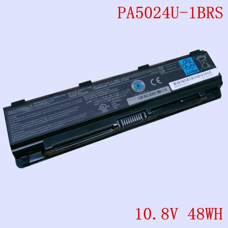 New Original Laptop Li-ion Battery PA5024U-1BRS for Toshiba L800 M800 M805 C805 L830 L850 C800 C850 L855 10.8V 48WH 4200mAh