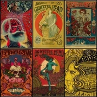 buy three to send one grateful dead psychedelic rock band abstract illustration vintage kraft poster coffee bar vintage poster