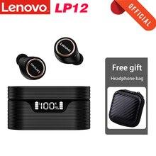 Оригинальные беспроводные наушники Lenovo LP12 TWS Bluetooth 5,0 наушники HiFi стерео звук гарнитура IPX5 водонепроницаемые наушники с микрофоном