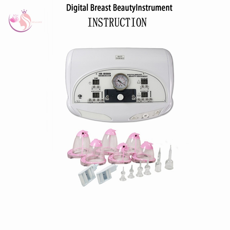 New Digital Breast Beauty Instrument Vibration Massage With Enlarge Breast Photon Face Back Care Obesity Cure Beauty Machine2021