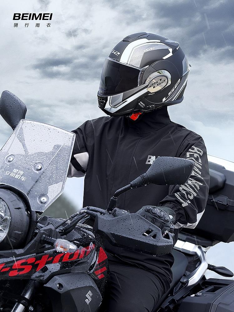 Outdoor Adult Raincoat Split Jacket Set Waterproof Hiking Motorcycle Bicycle Fabric Raincoats Men Capa De Chuva Rain Gear DF50YY enlarge