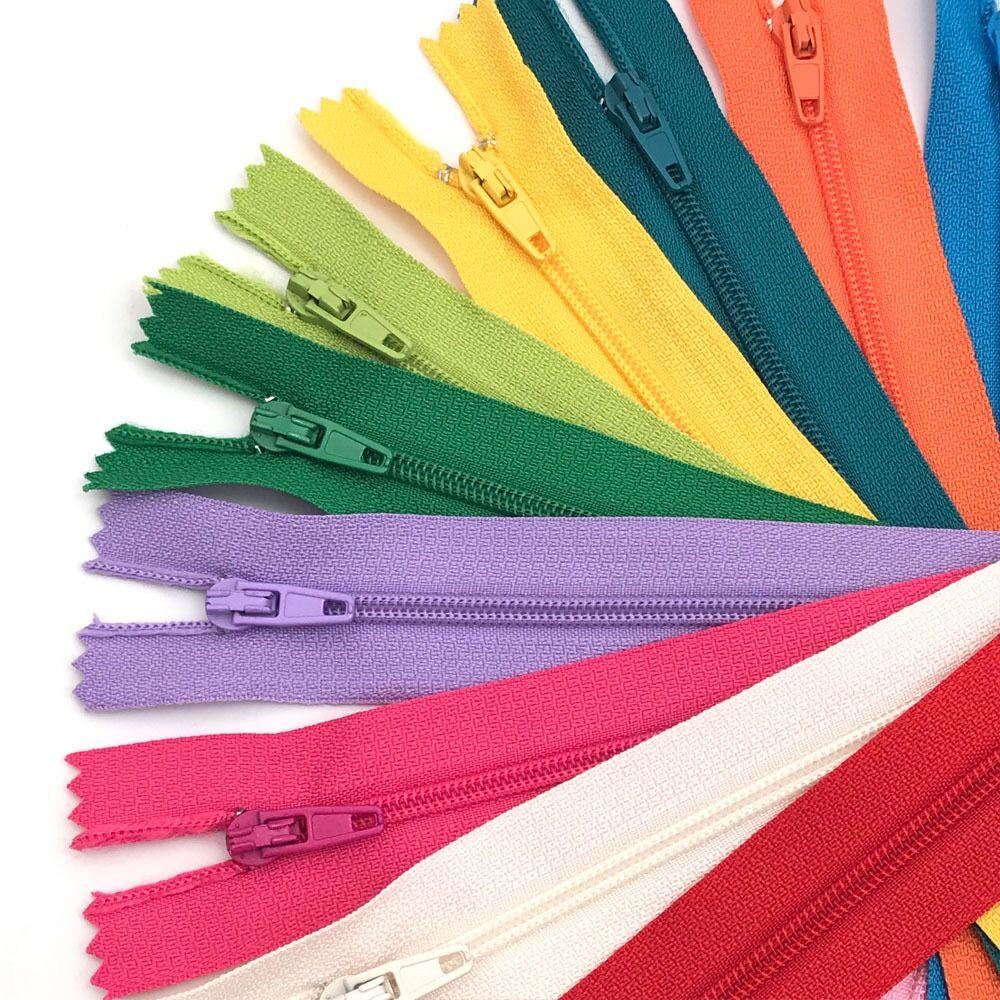 Cremallera de pantalones No. 3 colores nylon 20cm pantalones placket bolsillo bolsa almohada slider anti-open wallet cremallera Accesorios