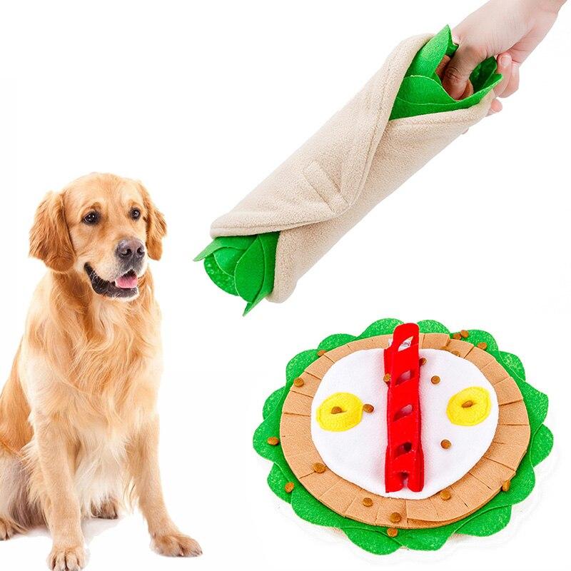 Fino Burrito Sniff adiestramiento de perros juguete perro mascota gato olor entrenamiento olfateando alfombra de alimentación IQ mascotas jugando olfateador juguete #