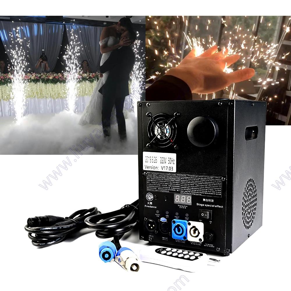 آلة شرارة الزفاف الكهربائية الباردة Pyro آلة التحكم عن بعد DMX تأثير المرحلة ل dj الألعاب النارية حفلة الألعاب النارية الجليد سباركلر
