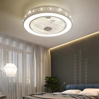 ceiling fanlamp with dimming remote control for living room bedroom decor lighting ceiling fan with lights good sleep 110v220v