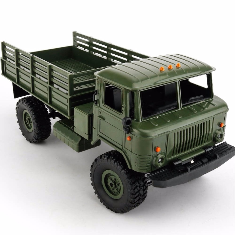 WPL B-24 Remote Control Military Truck DIY Off-Road 4WD RC Car 4 Wheel Buggy Drive Climbing GAZ-66 Vehicle for Birthday Gift Toy enlarge