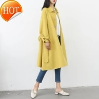 in new overcoat double sided spring cashmere 2020 womens medium and long wool overcoat big umbrella is popular