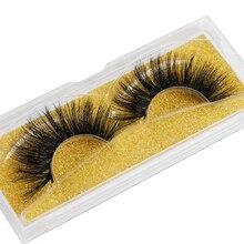 1Pair 25mm 100% Mink Hair False Eyelashes Reusable Big Volumn Lashes Handmade Crisscross Lashes Exte