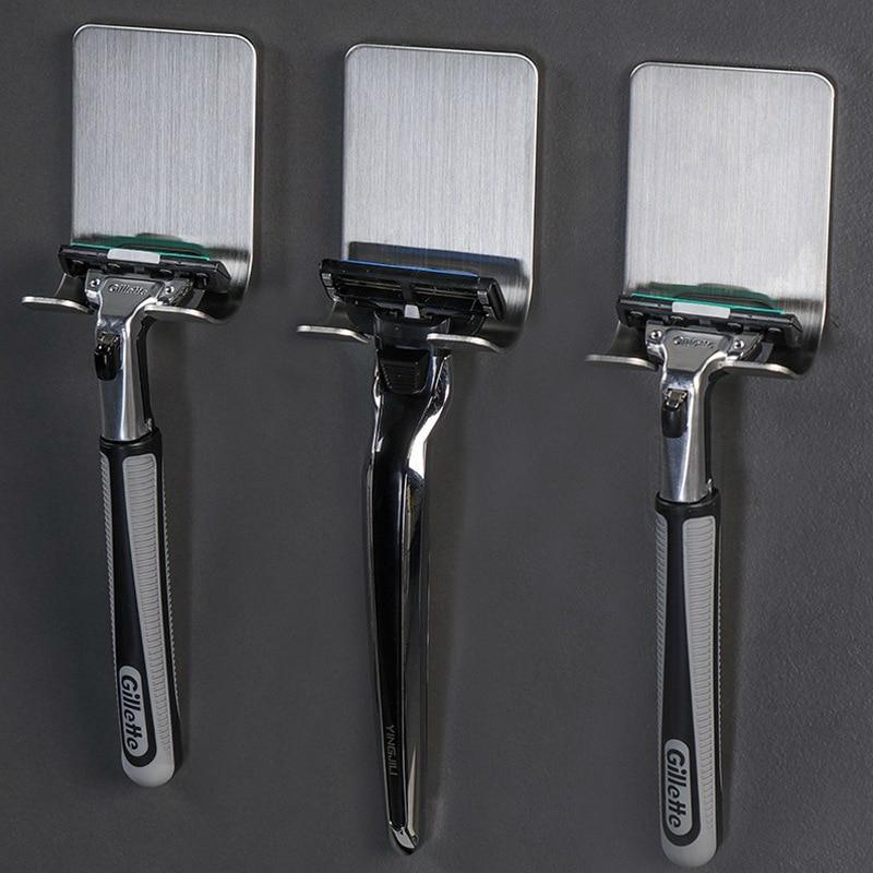 Nosač britve od nehrđajućeg čelika za muškarce, polica za - Organizacija i skladištenje u kući - Foto 2