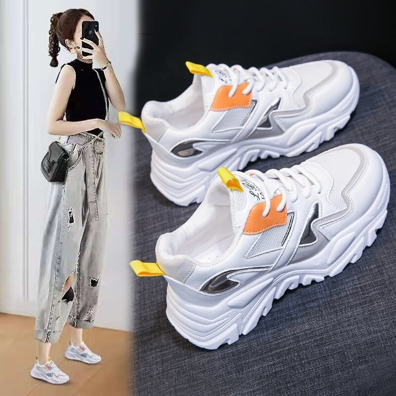 Sports shoes women 2021 Spring Festival New Year new mesh light low top all kinds of breathability students' shoes casual single  - buy with discount