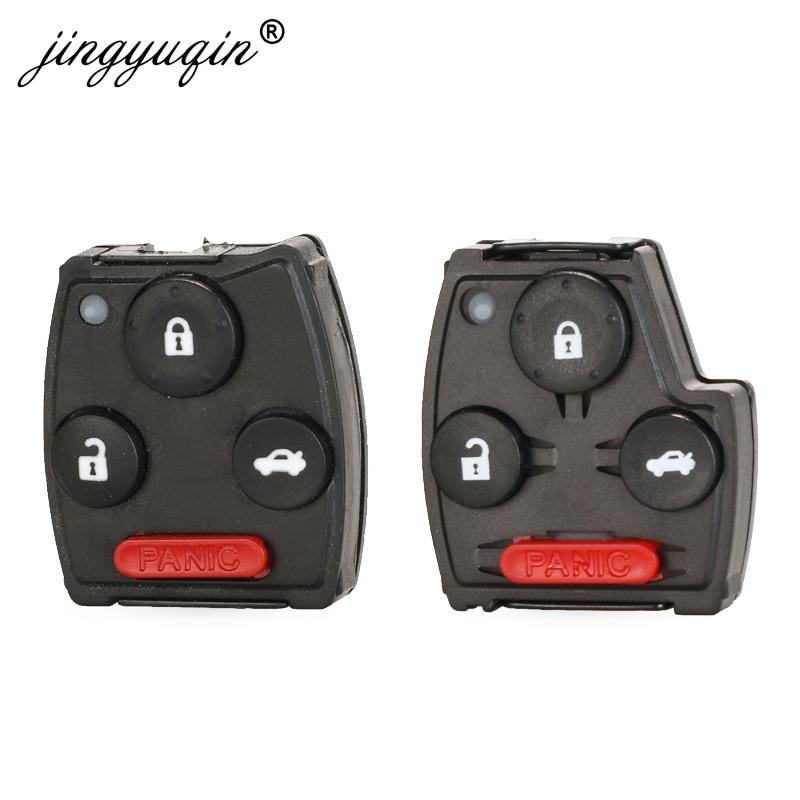 jinyuqin 50pcs Key Pad for HONDA ACCORD CIVIC CRV ODYSSEY PILOT FIT 2007 2008 2009 2010 2011 2012 2013 Replace Key Fob Button