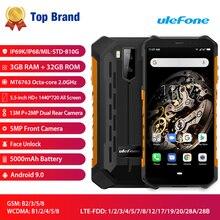 Ulefone ARMOR X5 IP68/IP69K NFC 4G Smartphone Android 9.0 13MP + 2MP 3GB RAM 32GB ROM 5.5 inch Gezicht unlock 5000mAh Mobilphone