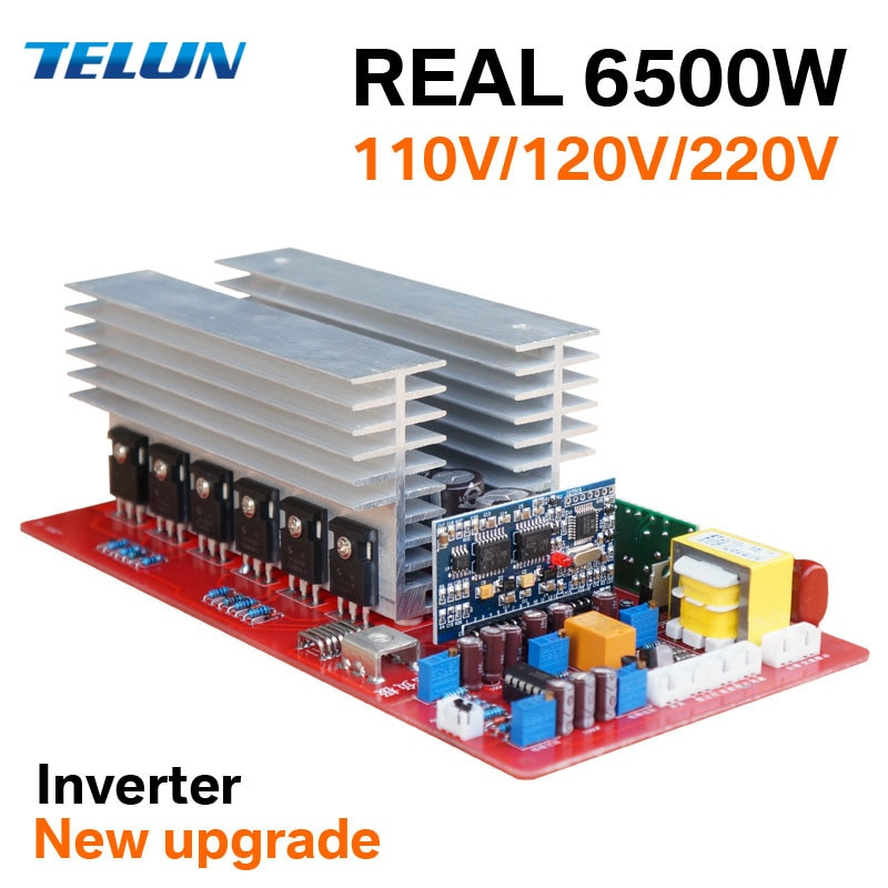TELUN 1500W 3000W 6500W DC12V/24 V/36 V/48 V/60 V zu AC 220V 110V Reine Sinus Welle High Power Frequenzumrichter Transformator