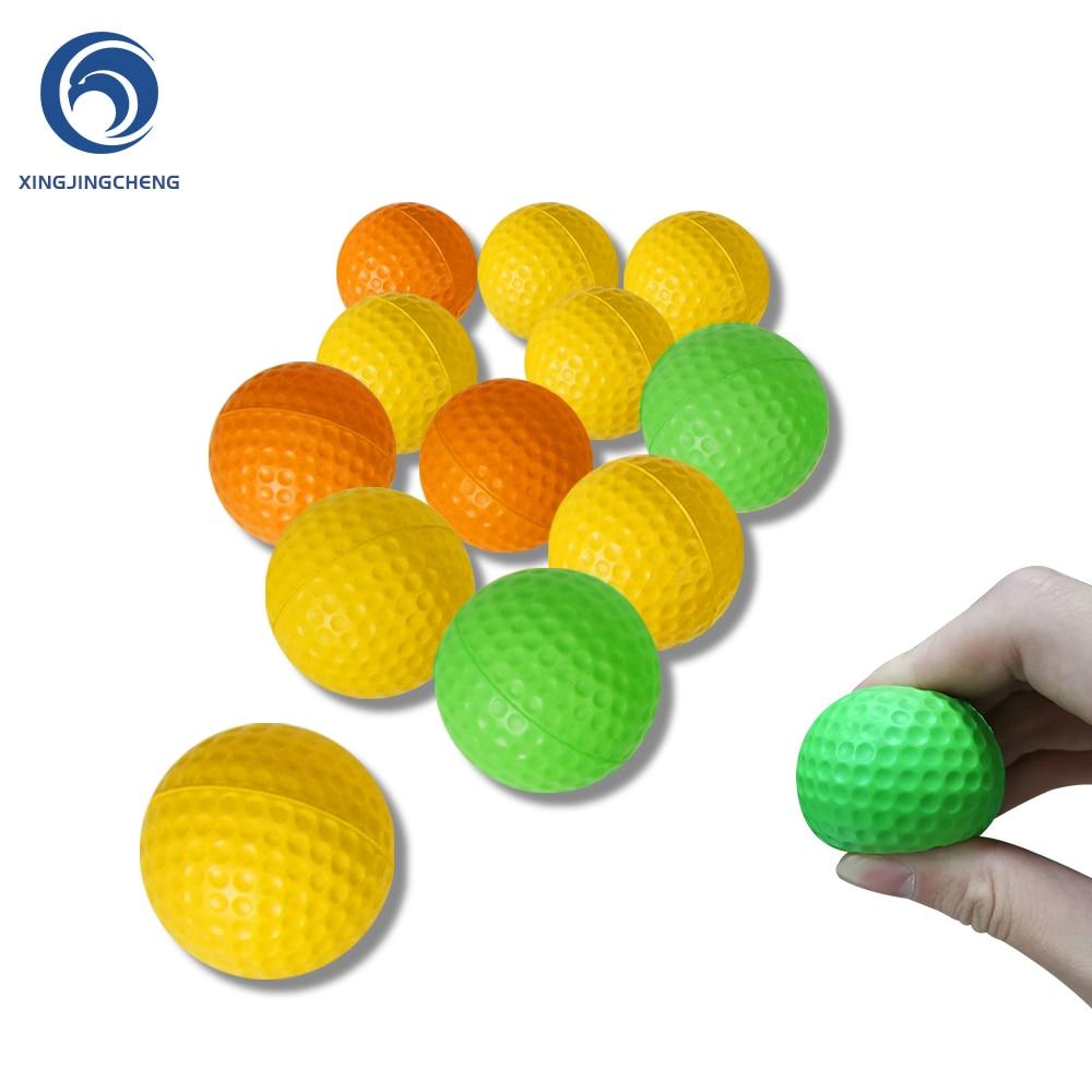 12Pcs Schaum Praxis Golf Bälle Gelb Grün Orange Golf Training Bälle Outdoor Indoor Putting Green Ziel Hinterhof Schaukel Spiel
